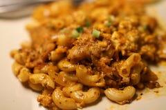 Fried macaroni Royalty Free Stock Images