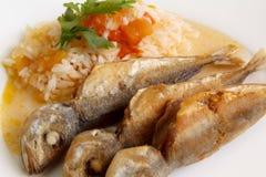 Fried mackerel Stock Photos