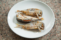 Fried mackerel Stock Photos