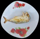 Fried mackerel Stock Image