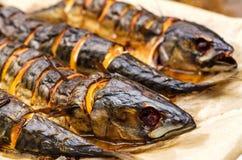 Fried mackerel with lemon Royalty Free Stock Photography