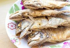 Fried mackerel Royalty Free Stock Images