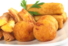 Fried Manioc Balls Stock Photography