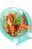 Fried mantis shrimp Stock Images
