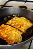 Fried matzah Stock Photography