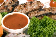 Fried meat Stock Photography