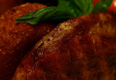 Fried meat and breaded cutlet Royalty Free Stock Image