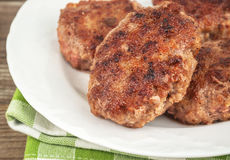 Fried meat cutlet Royalty Free Stock Photos