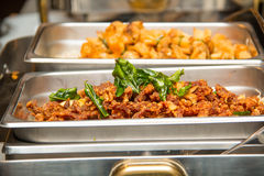 Fried Meat In Lunch Counter Royalty Free Stock Images