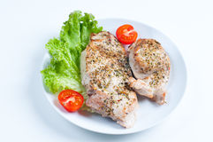 Fried meat with vegetables Royalty Free Stock Photo