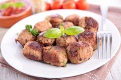 Fried meatball Stock Photos