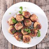 Fried meatball Royalty Free Stock Photography