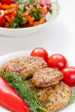 Fried meatballs close-up Royalty Free Stock Photos