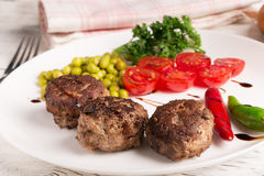 Fried meatballs cutlets Royalty Free Stock Photography
