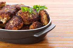 Fried meatballs with herbs Royalty Free Stock Image