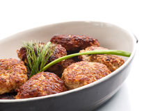 Fried meatballs with herbs Royalty Free Stock Photography
