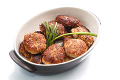 Fried meatballs with herbs Stock Image