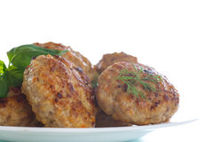 Fried meatballs with herbs Royalty Free Stock Photo