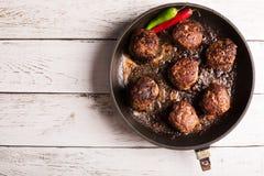 Fried meatballs Stock Photos
