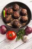 Fried meatballs Stock Photography