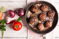Fried meatballs Royalty Free Stock Photos