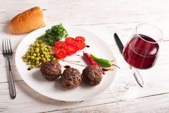 Fried meatballs Stock Photo