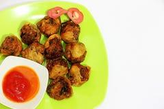 Fried meatballs Stock Image