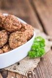 Fried Meatballs (skjuten närbild) Royaltyfria Bilder