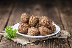 Fried Meatballs (skjuten närbild) Royaltyfria Foton