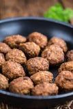 Fried Meatballs (skjuten närbild) Arkivbilder