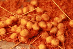 Fried meatballs. Is Thai foods street Stock Photos