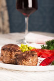 Fried meatballs and wine Royalty Free Stock Photo