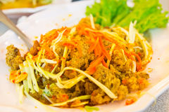 Fried minced fish with salad Stock Image