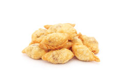 Fried mini curry puff Royalty Free Stock Image