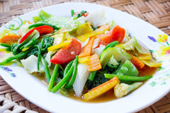 Fried mix vegetable Royalty Free Stock Image