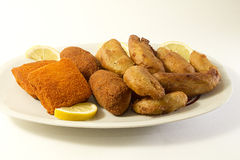 Fried mixed. A golden fried mixed in a plate Stock Image