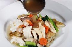 Fried mixed vegetable gravy Royalty Free Stock Photos