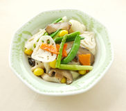 Fried mixed vegetable with lotus root. Chinese cuisine. yumcha, chinese food Stock Images