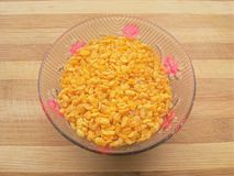Fried Moong dal in bowl Royalty Free Stock Images