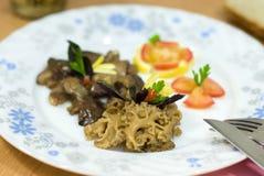 Fried morel mushroom Royalty Free Stock Images