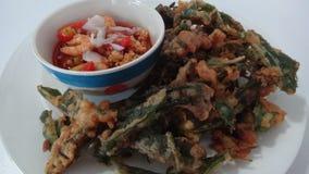 Fried morning glory salad Royalty Free Stock Photo