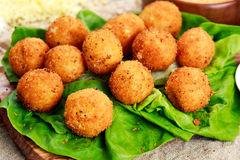 Fried mozzarella cheese stick balls. Stock Photography