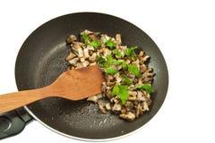 Fried mushroom stock photography