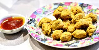 Fried mushroom ball Stock Photo