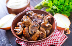 Fried mushroom Stock Photography