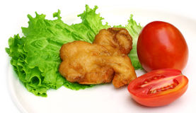 Fried mushroom with salad items Stock Photo