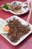 Fried mushroom stalk. Thailand style Stock Photos