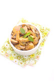 Fried mushrooms. In a honey-mustard marinade stock images