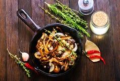 Fried mushrooms Royalty Free Stock Photos
