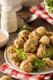 Fried Mushrooms profond fait maison Photographie stock libre de droits
